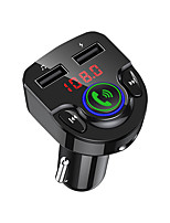 cheap -Bluetooth FM Transmitter for Car QC3.0 LED Backlit Car Radio Bluetooth Adapter Music Player Hands Free Car Kit with SD Card Slot Supports USB Flash Drive G32