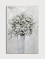cheap -Hand Painted Canvas Oilpainting Abstract Flower in Vase Home Decoration with Frame Painting Ready to Hang