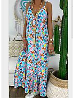 cheap -Women's Shift Dress - Floral Red Blue Light Blue S M L XL