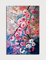 cheap -Hand Painted Canvas Oilpainting Abstract Flowers Home Decoration with Frame Painting Ready to Hang