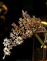cheap -Women's Tiaras For Wedding Party Evening Prom Festival Artisan Alloy Golden 1pc