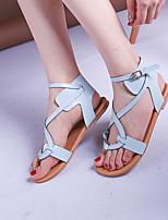cheap -Women's Sandals Stiletto Heel Round Toe PU Summer Black / Brown / Silver