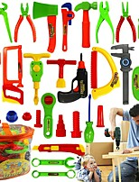 cheap -Dollhouse Miniature Room Accessories DIY Simulation Parent-Child Interaction Hammer Plastic Shell 32 pcs Toddler All Toy Gift