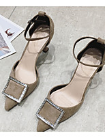 cheap -Women's Heels Stiletto Heel Pointed Toe PU Spring & Summer Black / Blue / Khaki