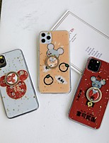 cheap -Case For Apple iPhone 11 / iPhone 11 Pro / iPhone 11 Pro Max Ring Holder / Pattern / Glitter Shine Back Cover Cartoon / Glitter Shine TPU