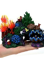 cheap -Creative Decorative Landscaping Aquarium Landscaping Landscaping Bottom of The Fish Tank Package Coral Conch Rock Fake Tree Resin Water Supplies Aquarium Decoration