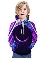 cheap -Kids Boys' Active Basic Color Block 3D Long Sleeve Hoodie & Sweatshirt Purple