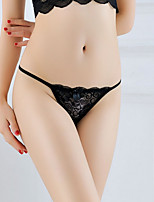 cheap -Women's Lace / Flower / Tassel Fringe G-strings & Thongs Panties Low Waist Black White Blushing Pink One-Size