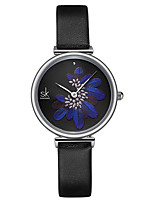 cheap -Women's Quartz Watches Classic Fashion Genuine Leather Japanese Quartz Blue Black Water Resistant / Waterproof 30 m 1 pc Analog One Year Battery Life