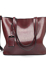 cheap -Women's PU Top Handle Bag Solid Color Wine / Brown / Black