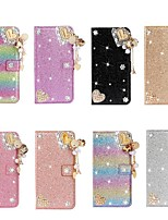 cheap -Case For Apple iPhone 11 / iPhone 11 Pro / iPhone 11 Pro Max Wallet / Card Holder / with Stand Full Body Cases Heart / Glitter Shine PU Leather / Metal