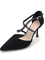 cheap -Women's Heels Stiletto Heel Pointed Toe PU Spring & Summer Black / Nude