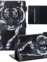 cheap -Case & Pen For Samsung Galaxy Samsung Tab A 8.0(2019)/ E 8.0 /A 7.0 / A8(2019)P200/205 Dustproof / with Stand / Flip Back Cover tiger PU Leather