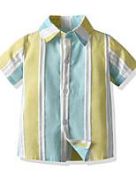 cheap -Toddler Boys' Basic Striped Short Sleeve Shirt Light Green