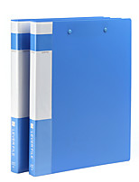 cheap -2pcs Office Supplies A4 Plastic Double Clip Folder Information Folder Office Storage Folders Stationery