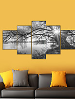 cheap -AMJ Hot Selling Lakeside Scenery Puppet Painting Living Room Sofa Background Wall Decoration Canvas Picture Frameless Painting Core