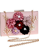 cheap -Women's Flower Polyester Evening Bag Floral Print Black / White / Blushing Pink