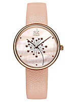 cheap -Women's Quartz Watches Luxury Fashion Genuine Leather Japanese Quartz Blushing Pink Black Water Resistant / Waterproof 30 m 1 pc Analog One Year Battery Life