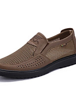 cheap -men's comfort shoes leather fall & winter oxfords brown