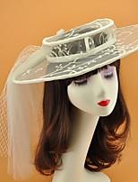 cheap -Net Hats with Cap 1 Piece Wedding Headpiece