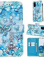 cheap -Case For Samsung Galaxy A90/Galaxy A80/Galaxy A50s Wallet / Card Holder / with Stand Full Body Cases Butterfly / Eiffel Tower PU Leather For Galaxy A51/A71/S20/S20 Plus/S20 Ultra/A10S/A20S/A30S