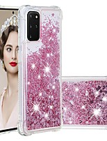 cheap -Case For Samsung Galaxy Samsung Galaxy A50s / Samsung Galaxy A30s / Samsung Galaxy A10s Shockproof / Flowing Liquid / Transparent Back Cover Glitter Shine TPU