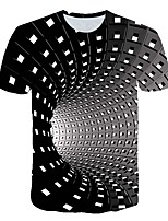 cheap -Women's Daily Sports Basic / Street chic T-shirt - 3D / Visual Deception Print Black