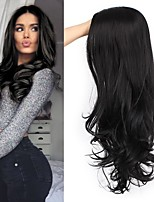 cheap -Synthetic Wig Curly Natural Wave Middle Part Wig Long Black Synthetic Hair Women's Fashionable Design Creative Party Black