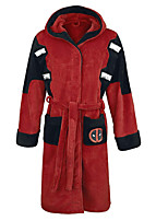 cheap -Adults' Kigurumi Pajamas Super Heroes Onesie Pajamas Flannel Fabric Red Cosplay For Animal Sleepwear Cartoon Festival / Holiday Costumes