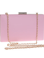 cheap -Women's Chain Polyester / PU Evening Bag Solid Color Black / White / Blushing Pink