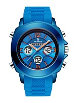 cheap -Men Sport Watch Japanese Quartz Sporty Silicone Black / Pool / Clover 30 m Alarm Clock LCD Stopwatch Analog - Digital Casual Fashion - Gold Silver Blue One Year Battery Life