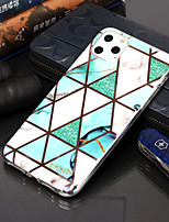 cheap -Case For Apple iPhone 11 / iPhone 11 Pro / iPhone 11 Pro Max Plating / Pattern Back Cover Geometric Pattern TPU for iphone XS Max XR XS X 8 Plus 7 Plus 6s Plus 6G 5G