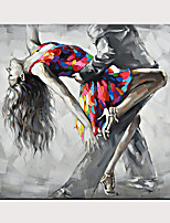 cheap -Tango Dancing Oil Painting Naked Sexy Woman Ballet Dancer Body Nude Oil Painting On Canvas