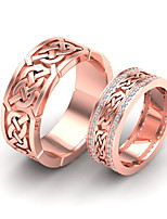 cheap -Women's Ring AAA Cubic Zirconia 2pcs Rose Gold Gold Alloy Stylish Punk Daily Jewelry Cute