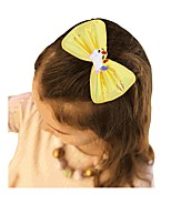 cheap -Kids / Toddler / Infant Girls' Active / Basic / Sweet Unicorn Cartoon Bow Polyester Hair Accessories White / Purple / Blushing Pink One-Size