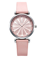 cheap -Women's Quartz Watches Casual Fashion PU Leather Japanese Quartz Blushing Pink Green Blue Water Resistant / Waterproof 30 m 1 pc Analog One Year Battery Life