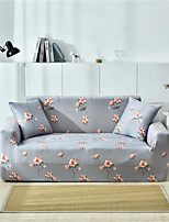 cheap -Grey Floral Print Dustproof All-powerful Slipcovers Stretch Sofa Cover Super Soft Fabric Couch Cover with One Free Pillow Case