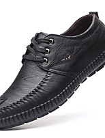 cheap -Men's Faux Leather Spring & Summer / Fall & Winter Business / Casual Oxfords Breathable Black / Yellow
