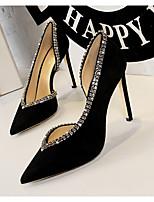 cheap -Women's Heels Stiletto Heel Pointed Toe PU Spring & Summer Black / Red / Blue