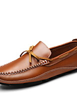 cheap -Men's Comfort Shoes Patent Leather Fall & Winter Loafers & Slip-Ons Black / Brown / Blue