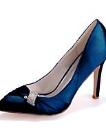 cheap -Women's Wedding Shoes Stiletto Heel Pointed Toe Rhinestone Satin Sweet Fall / Spring & Summer Purple / Dark Purple / Champagne / Party & Evening