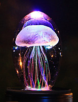 cheap -LED Night Light Jellyfish Light 3D Jellyfish Lamp Baby Children's Lampara Crystal Fish Marine Animal Lamps For Home Decoration