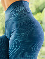 cheap -Women's High Waist Yoga Pants Winter 3D Print Blue Running Fitness Gym Workout Leggings Sport Activewear Quick Dry Butt Lift Tummy Control High Elasticity Skinny