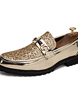 cheap -Men's Patent Leather Spring & Summer British Loafers & Slip-Ons Walking Shoes Non-slipping Gold / Silver / Black / Square Toe