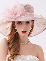 cheap -Vintage Style Fashion Tulle / Organza Hats / Headwear with Bowknot / Printing / Flower 1 Piece Wedding / Outdoor Headpiece