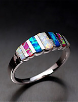 cheap -Women's Ring Synthetic Opal 1pc Silver Platinum Plated Alloy Stylish Daily Jewelry Cute