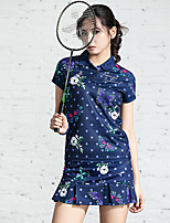 cheap -Women's Skirt Tee / T-shirt Clothing Suit Short Sleeve Tennis Golf Sports Outdoor Summer / Stretchy / Quick Dry / Breathable