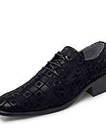 cheap -Men's Faux Leather Spring & Summer / Fall & Winter Business / Casual Oxfords Breathable Black / White / Red
