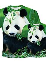 cheap -3D Cute Panda Men T-shirt Casual Short Sleeve O-Neck Fashion Nature Printed Animal Baby Boy Tees