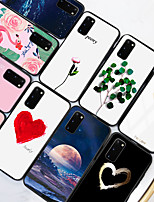 cheap -Samsung scene map Samsung Galaxy S20 S20 Plus S20 Ultra colorful Love Painted pattern tempered glass back plate TPU frame 2-in-1 anti-drop mobile phone case JMGD